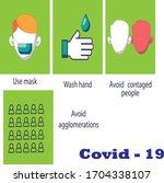 prevention systems of corona... | Shutterstock .eps vector #1704338107
