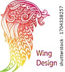 abstract multycolour wings... | Shutterstock .eps vector #1704338257
