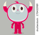 ancient red horned character | Shutterstock .eps vector #170433989