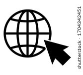 go to web symbol icon vector...