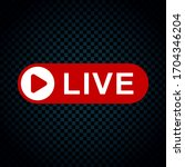 live streaming icons....   Shutterstock .eps vector #1704346204