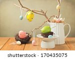 Easter Eggs Decorations With...