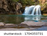 Fossil Creek falls in Strawberry AZ