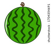 watermelon icon with vector... | Shutterstock .eps vector #1704354691