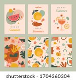 summer greeting cards template... | Shutterstock .eps vector #1704360304
