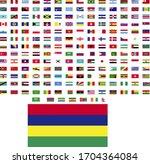 flags of the world. world flag... | Shutterstock .eps vector #1704364084