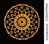 mandala graphic design for art  ... | Shutterstock .eps vector #1704379594
