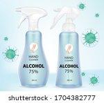 antivirus sanitizer spray  hand ... | Shutterstock .eps vector #1704382777