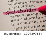 Small photo of Fake Dictionary, Dictionary definition of word stakeholder.