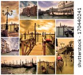 Collage Venice Lagoon And...