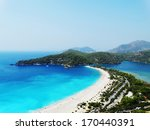 panorama of oludeniz lagoon in...