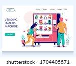 vending snacks machine vector...   Shutterstock .eps vector #1704405571