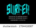water wave style font design ... | Shutterstock .eps vector #1704418387