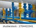 Valves At Gas Plant  Pressure...