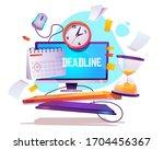 deadline in work. concept of... | Shutterstock .eps vector #1704456367