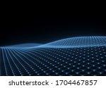 futuristic wavy neon grid  wavy ...