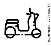 mobile motobike icon vector. mobile motobike sign. isolated contour symbol illustration