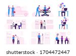 set male and female characters...   Shutterstock .eps vector #1704472447