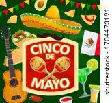 cinco de mayo mexican holiday... | Shutterstock .eps vector #1704473191