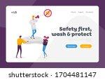 stop coronavirus landing page...   Shutterstock .eps vector #1704481147