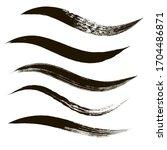 makeup strokes  set of mascara... | Shutterstock .eps vector #1704486871