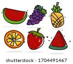 free hand vetor cute grape ... | Shutterstock .eps vector #1704491467