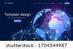 global network connection...   Shutterstock .eps vector #1704544987