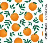 Seamless Pattern Of Oranges And ...