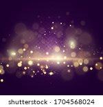 brilliant gold dust vector...   Shutterstock .eps vector #1704568024