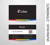 business card layout with...   Shutterstock .eps vector #1704608671