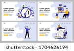 people having conference chat ... | Shutterstock .eps vector #1704626194