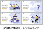 business activities set.... | Shutterstock .eps vector #1704626644