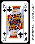king of clubs playing card... | Shutterstock . vector #1704629314