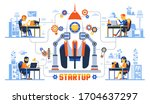 working remotely creative... | Shutterstock .eps vector #1704637297