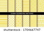 vector set of yellow ornamental ... | Shutterstock .eps vector #1704667747