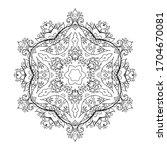 mandala art for meditation ... | Shutterstock .eps vector #1704670081