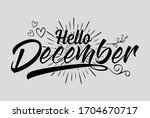 hand drawn  calligraphy and...   Shutterstock .eps vector #1704670717