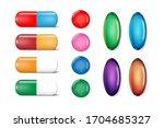 medicine painkiller pills... | Shutterstock .eps vector #1704685327