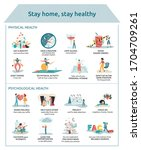 poster with prevention advices... | Shutterstock .eps vector #1704709261