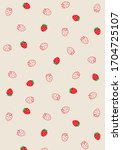 strawberry patterns  red...   Shutterstock .eps vector #1704725107