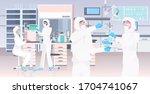 scientists team in uniform... | Shutterstock .eps vector #1704741067