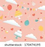 seamless pattern of wedding... | Shutterstock .eps vector #170474195
