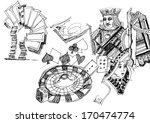 gambling illustration hand drawn | Shutterstock . vector #170474774