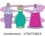 vector illustration of glass... | Shutterstock .eps vector #1704753814