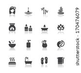 spa icons with white background | Shutterstock .eps vector #170476079