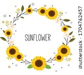 The Cute Sunflower With White...