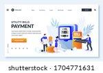 utility bills online payment... | Shutterstock .eps vector #1704771631
