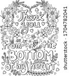 hand drawn with inspiration... | Shutterstock .eps vector #1704782041