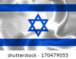 israel flag illustration flying ... | Shutterstock . vector #170479055