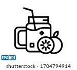 line style icon of fresh juice...